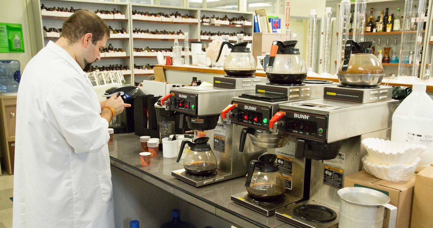 flavored coffee development lab