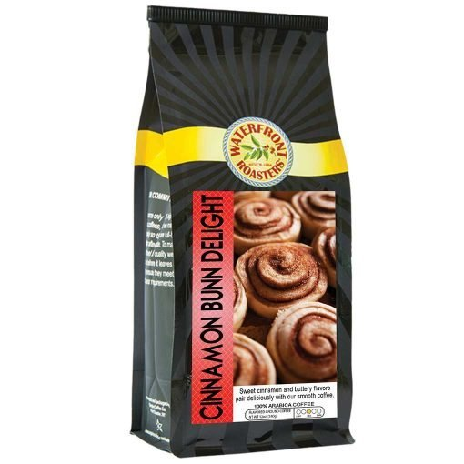 Waterfront Roasters Cinnamon Bun Delight Flavored Coffee
