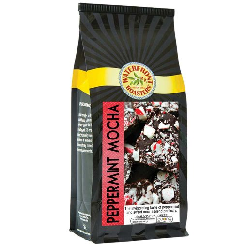Waterfront Roasters Peppermint Mocha Flavored Coffee