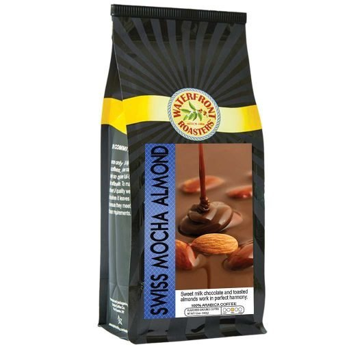 Waterfront Roasters Swiss Mocha Almond Flavored Coffee