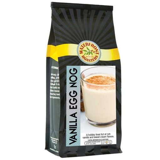 Waterfront Roasters Vanilla Egg Nog Flavored Coffee