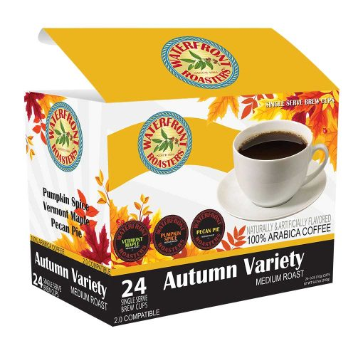 Waterfront Roasters Autumn Variety Flavored Coffee Cups