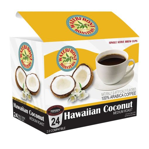 Waterfront Roasters Hawaiian Coconut Flavored Coffee Cups