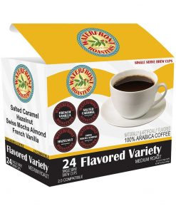 "Do you love variety? We think it's what livens up life. Our Flavored Variety single cup 24 count box come with 6 each of our Salted Caramel, Hazelnut, Swiss Mocha Almond and French Vanilla cups. This is a great way to experience some of our most popular year-around flavors with the least amount of effort. [block id=""single-cup-block""]"