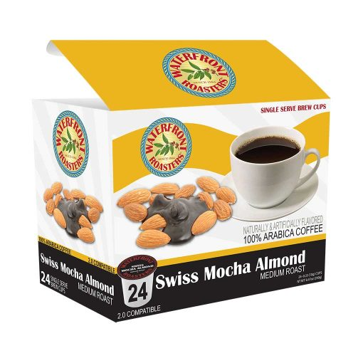 Waterfront Roasters Swiss Mocha Almond Flavored Single Cups